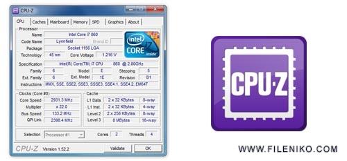 cpu z - دانلود CPU-Z 1.90.1 مشاهده کامل اطلاعات CPU