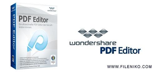 wondershare pdf editor - دانلود Wondershare PDF Editor 3.9.11.9  ویرایش کننده و مبدل فایل PDF