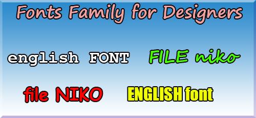 2 2 - دانلود Fonts Family for Designers مجموعه ۵۶ فونت انگلیسی برای طراحی