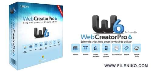 LMSOFT Web Creator Pro - دانلود LMSOFT Web Creator Pro 6.0.0.8  طراحی وب سایت