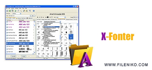X Fonter - دانلود X-Fonter 10.0.1  مدیریت و سازماندهی فونت ها در گروه های مجزا