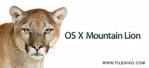 OS X Mountain Lion - دانلود 4.OS X Mountain Lion v10.8  سیستم عامل شیرکوهی برای مک