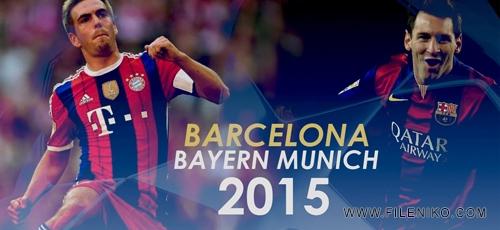 uefaw - جام قهرمانان اروپا Bayern Munich vs Barcelona بازی رفت