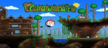 Terraria1 222x100 - دانلود Terraria 1.2.12772  بازی محبوب جزیره شناور اندروید + مود + دیتا