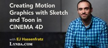 Cinema 4d 222x100 - دانلود آموزش فیلم Creating Motion Graphics with Sketch and Toon in CINEMA 4D