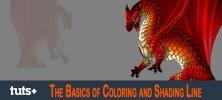 The Basics of Coloring and Shading Line 222x100 - دانلود The Basics of Coloring and Shading Line فیلم آموزشی مبانی رنگ آمیزی و قالب بندی در فتوشاپ