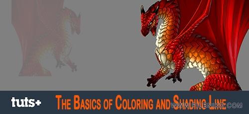 The Basics of Coloring and Shading Line - دانلود The Basics of Coloring and Shading Line فیلم آموزشی مبانی رنگ آمیزی و قالب بندی در فتوشاپ