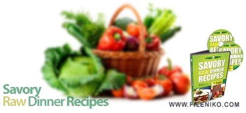Untitled 32 - دانلود Savory Raw Dinner Recipes فیلم آموزشی آشپزی و تهیه غذاهای رژیمی