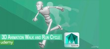 Cycle 222x100 - دانلود Udemy 3D Animation Walk and Run Cycle ساخت انیمیشن راه رفتن و دویدن در Maya