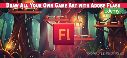 Flash - دانلود فیلم آموزش طراحی فنون و صحنه های گرافیکی بازی ها توسط Adobe Flash
