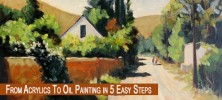 Oil 222x100 - دانلود فیلم آموزش نقاشی از آکریلیک تا روغنی با استفاده از ۵ روش ساده