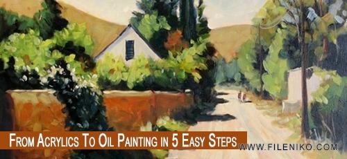 Oil - دانلود فیلم آموزش نقاشی از آکریلیک تا روغنی با استفاده از ۵ روش ساده