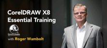 corel 222x100 - دانلود Lynda CorelDRAW X8 Essential Training - آموزش کورل دراو ایکس 8