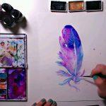 Feather Painting.MP4 snapshot 01.10 2016.07.08 09.37.24 150x150 - دانلود Anyone Can Watercolor The Basics for Creating Magical Pieces - دوره آموزشی کار با آبرنگ و خلق هنر جادویی