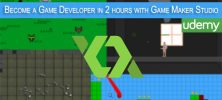 Become a Game Developer in 2 hours with Game Maker Studio 1 222x100 - دانلود Become a Game Developer in 2 hours with Game Maker Studio آموزش گیم میکر استودیو در عرض 2 ساعت