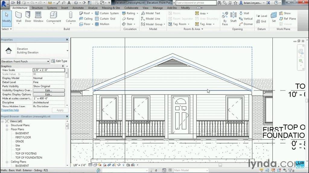 دانلود Lynda Designing Home Plans With Revit فیلم آموزشی