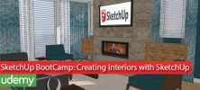 SketchUp BootCamp Creating Interiors with SketchUp 222x100 - دانلود SketchUp BootCamp Creating Interiors with SketchUp فیلم آموزشی مدلسازی معماری و رندر داخلی اسکچاپ