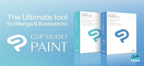 Clip Studio Paint EX - دانلود Clip Studio Paint EX 1.8.2 نرم افزار نقاشی داستان های مصور به همراه Materials