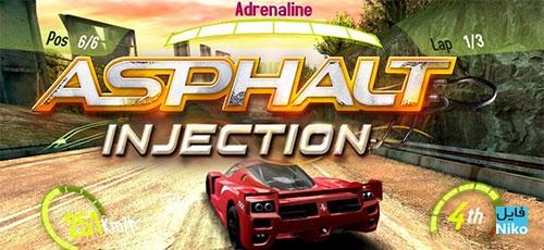"Asphalt Injection - دانلود Asphalt: Injection 1.1.1   بازی ماشین سواری ""آسفالت: تزریق"" اندروید همراه با دیتا"