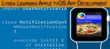 iOS 222x100 - دانلود Lynda Learning Apple tvOS App Development فیلم آموزشی توسعه اپ های اپل tvOS