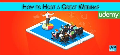 template 1 - دانلود Udemy How to Host a Great Webinar فیلم آموزشی آشنایی با نحوه میزبانی یک همایش Webinar