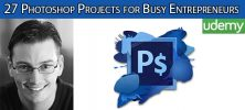 27 Photoshop Projects for Busy Entrepreneurs 547 Templates 222x100 - دانلود Udemy 27 Photoshop Projects for Busy Entrepreneurs + 547 Templates آموزش 27 پروژه فتوشاپ همراه با 547 قالب
