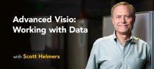 Lynda Advanced Visio Working with Data 222x100 - دانلود Lynda Advanced Visio: Working with Data آموزش ویزیو پیشرفته: کار با داده ها
