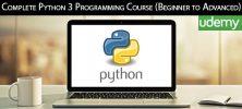 Udemy Complete Python 3 Programming Course Beginner to Advanced 222x100 - دانلود Udemy Complete Python 3 Programming Course (Beginner to Advanced) آموزش کامل مقدماتی تا پیشرفته برنامه نویسی پایتون 3