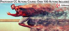 Udemy Photoshop CC Actions Course Over 100 Actions Included 222x100 - دانلود !Udemy Photoshop CC Actions Course: Over 100 Actions Included آموزش اکشن ها در فتوشاپ سی سی همراه با 100 اکشن