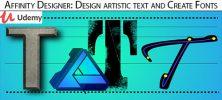 Udemy Affinity Designer Design artistic text and Create Fonts 222x100 - دانلود Udemy Affinity Designer: Design artistic text and Create Fonts آموزش ساخت متن های هنری و فونت با افینیتی دیزاینر