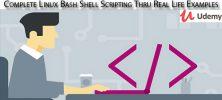 Udemy Complete Linux Bash Shell Scripting Thru Real Life Examples 222x100 - دانلود Udemy Complete Linux Bash Shell Scripting Thru Real Life Examples آموزش کامل اسکریپت نویسی شل بش لینوکس