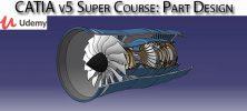 Udemy CATIA v5 Super Course Part Design 222x100 - دانلود Udemy CATIA v5 Super Course: Part Design آموزش کتیا وی 5: طراحی قطعه