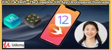 Udemy iOS 12 Swift The Complete iOS App Development Bootcamp 222x100 - دانلود Udemy iOS 12 & Swift - The Complete iOS App Development Bootcamp آموزش توسعه اپ آی او اس 12 و سوئیفت