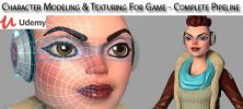 Udemy Character Modeling Texturing For Game Complete Pipeline 222x100 - دانلود Udemy Character Modeling & Texturing For Game - Complete Pipeline آموزش طراحی کاراکتر و تکسچر برای بازی ها