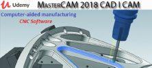 Udemy MasterCAM 2018 CAD I CAM Computer aided manufacturing 222x100 - دانلود Udemy MasterCAM 2018 CAD I CAM (Computer-aided manufacturing) آموزش پلاگین مسترکم 2018