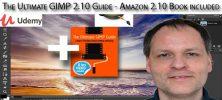 Udemy The Ultimate GIMP 2.10 Guide Amazon 2.10 Book included 222x100 - دانلود Udemy The Ultimate GIMP 2.10 Guide - Amazon 2.10 Book included آموزش کامل نرم افزار گیمپ همراه با کتاب آمازون 1.10