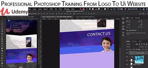 Udemy Professional Photoshop Training From Logo To Ui Website - دانلود Udemy Professional Photoshop Training From Logo To Ui Website آموزش حرفه ای فتوشاپ جهت طراحی لوگو تا رابط کاربری وب سایت