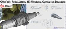 Udemy Catia V5 Fundamental 3D Modeling Course for Engineers 222x100 - دانلود Udemy Catia V5 : Fundamental 3D Modeling Course for Engineers آموزش اصول و مبانی مدلسازی سه بعدی با کتیا وی 5