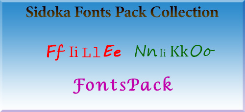 1 69 - دانلود Sidoka Fonts Pack Collection مجموعه ۴۹۸ فونت زیبای انگلیسی