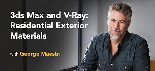 Linkedin 3ds Max and V Ray Residential Exterior Materials - دانلود Linkedin 3ds Max and V-Ray Residential Exterior Materials آموزش تری دی اس مکس و وی ری : مواد نمای بیرونی مسکونی