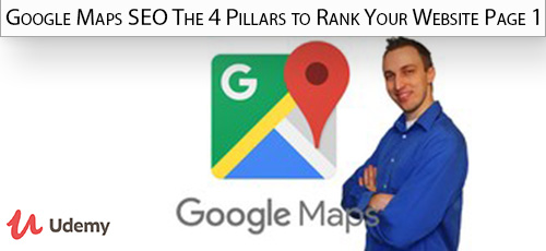Udemy Google Maps SEO The 4 Pillars to Rank Your Website Page 1 - دانلود Udemy Google Maps SEO The 4 Pillars to Rank Your Website Page 1 آموزش سئو با گوگل مپ