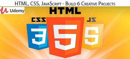 Udemy HTML CSS JavaScript Build 6 Creative Projects - دانلود Udemy HTML, CSS, JavaScript - Build 6 Creative Projects آموزش ساخت 6 پروژه خلاقانه با جاوا اسکریپت، سی اس اس و اچ تی ام ال