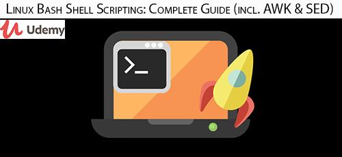 Udemy Linux Bash Shell Scripting Complete Guide incl. AWK SED - دانلود Udemy Linux Bash Shell Scripting: Complete Guide (incl. AWK & SED) آموزش کامل اسکریپت نویسی پوسته باش لینوکس