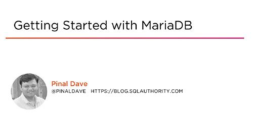 1 29 - دانلود Pluralsight Getting Started with MariaDB آموزش شروع کار با ماریا دی بی