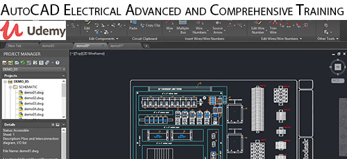 Udemy AutoCAD Electrical Advanced and Comprehensive Training - دانلود Udemy AutoCAD Electrical Advanced and Comprehensive Training آموزش پیشرفته و همه جانبه اتوکد الکتریکال