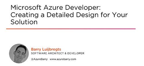2 42 - دانلود Pluralsight Microsoft Azure Developer: Creating a Detailed Design for Your Solution توسعه دهنده مایکروسافت آژور: ایجاد یک طرح با جزییات دقیق برای اپلیکیشن