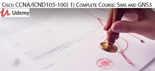 1 96 - دانلود Udemy Cisco CCNA/ICND1 (100-105) Complete Course: Sims and GNS3 آموزش مهارت های شبکه در دوره آموزشی CCNA ICND1 به شماره آزمون 105-100: Sims and GNS3
