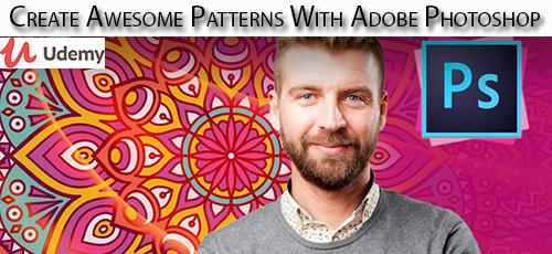 36 - دانلود Udemy Create Awesome Patterns With Adobe Photoshop آموزش ساخت الگوهای زیبا در فتوشاپ