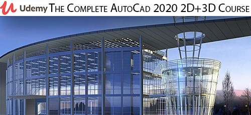 8 7 - دانلود Udemy The Complete AutoCad 2020 2D+3D Course آموزش کامل اتوکد 2020 دو بعدی و سه بعدی