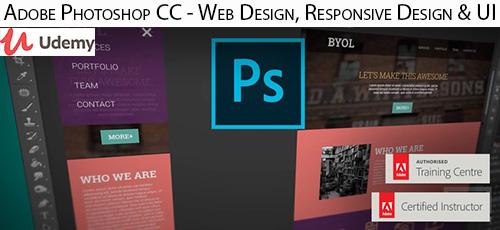 9 - دانلود Udemy Adobe Photoshop CC - Web Design, Responsive Design & UI آموزش طراحی وب، طراحی واکنش گرا و رابط کاربری با ادوبی فتوشاپ سی سی